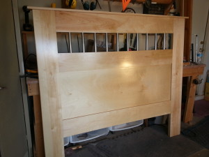 Head board, headboard, hand made, queen size bed
