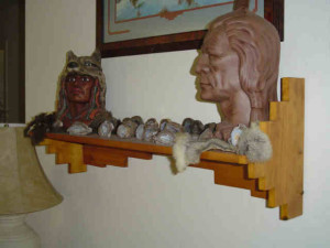 aztec, custom designed, specialty shelf