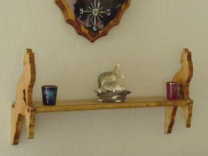 custom designed, coyote shelf, wolf shelf