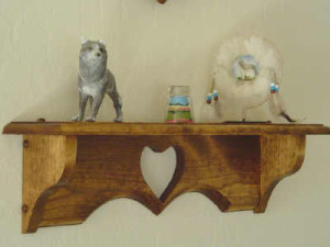Country style shelf, heart shelf, custom designed, hand crafted, specialty shelf