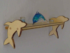 Dolphin shelf, custom wall shelf, hand crafted wall shelf