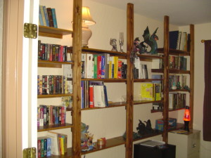 Built in shelves, custom wall shelving, custom designed, built in
