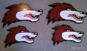 Custom cutting, DHPA Coyote Plaques, custom finishing