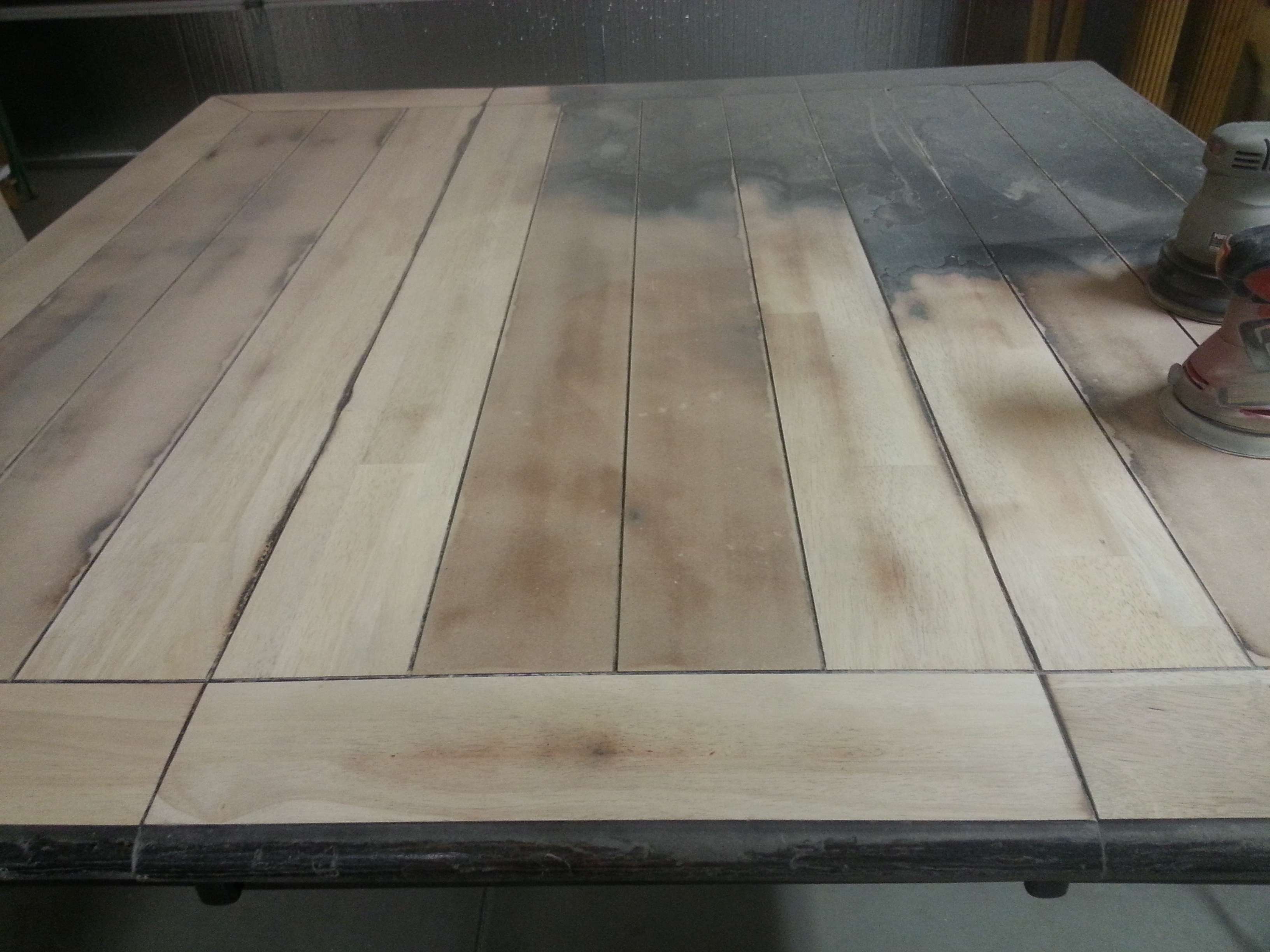 refinishing furniture, table top refurbish, table top restoration
