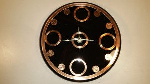 custom design wall clock, wall clock, specialty item, copper wall clock