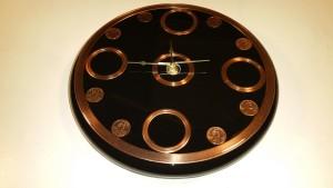 custom design wall clock, wall clock, specialty item, copper wall clock