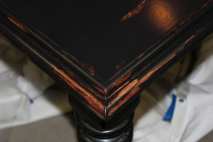 distressed finish, distressed furniture, refinishing furniture, table top refurbish, table top restoration