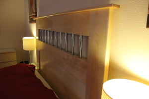 custom designed headboard, custom woodwork, custom furniture