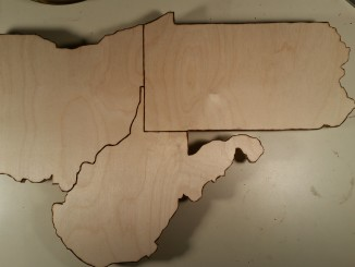 custom plaques, state cutouts, wood burning, detailed cutout