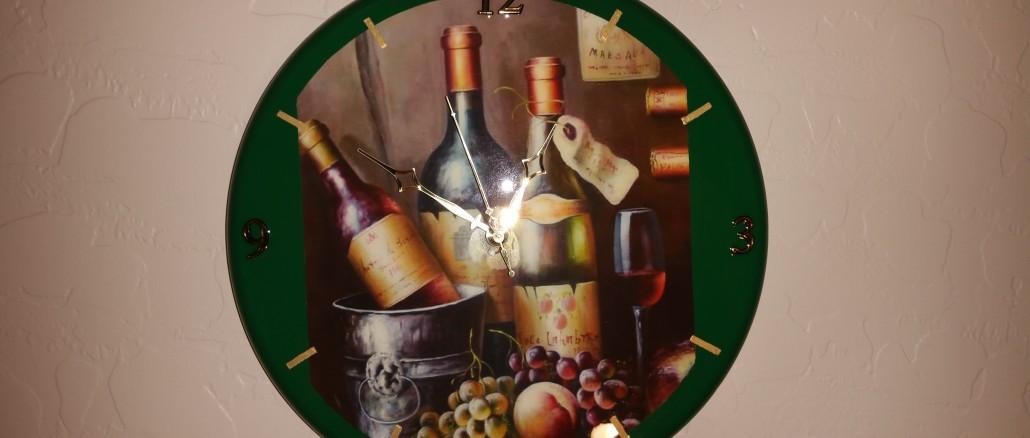 kitchen clock, wine bottle, wine art clock, green, wine bottles, custom clock