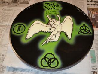 Led Zeppelin clock, custom clock, custom designed clock, 3D clock