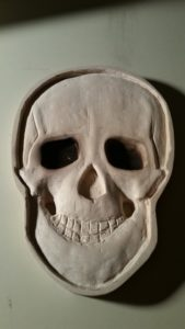 custom carving, custom engraving, skull sculpture, 3D skull test