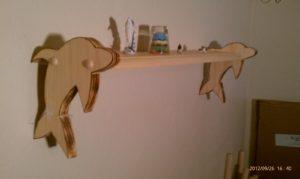 Dolphin shelf, custom wall shelf, hand crafted wall shelf
