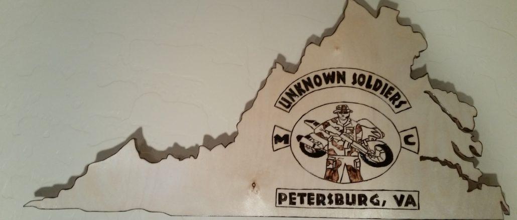 virginia veterans, custom wall plaque, virginia wall plaque, custom engraved wall plaque, veterans club, wall plaque