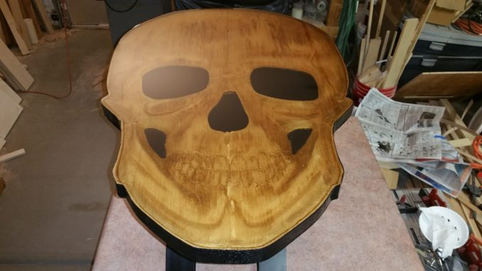 3D skull table, skull coffee table, carved skull coffee table, carved coffee table, handcrafted coffee table, custom coffee table, custom handcrafted coffee table, skull sculpture table