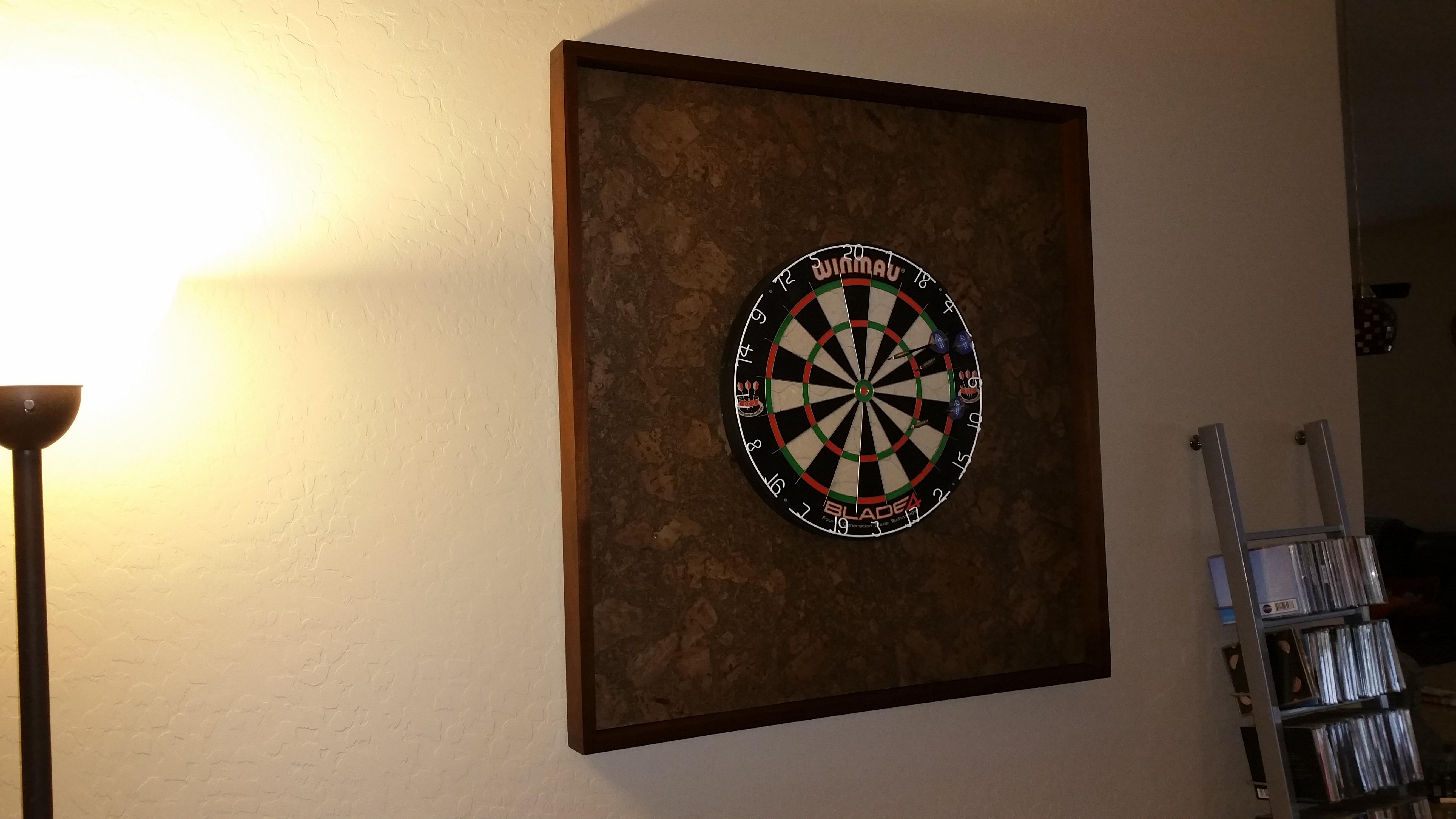 Custom Dart Board Frame – Arizona Custom Wood Designs