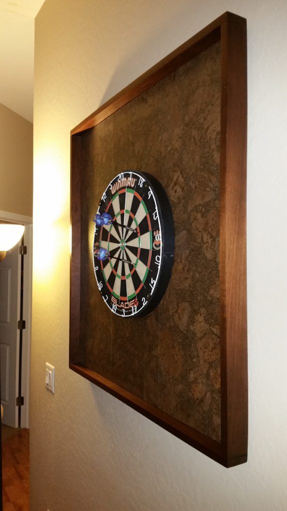 dart board frame, dart board backing board, custome backing board, custom dart board frame, dart board, darts, throwing darts, cricket, steel darts, steel dart board