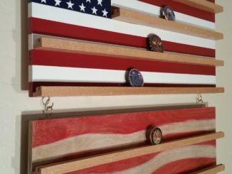 flag coin rack. stars and stripes, flag, coin rack, custom coin rack, hand crafted