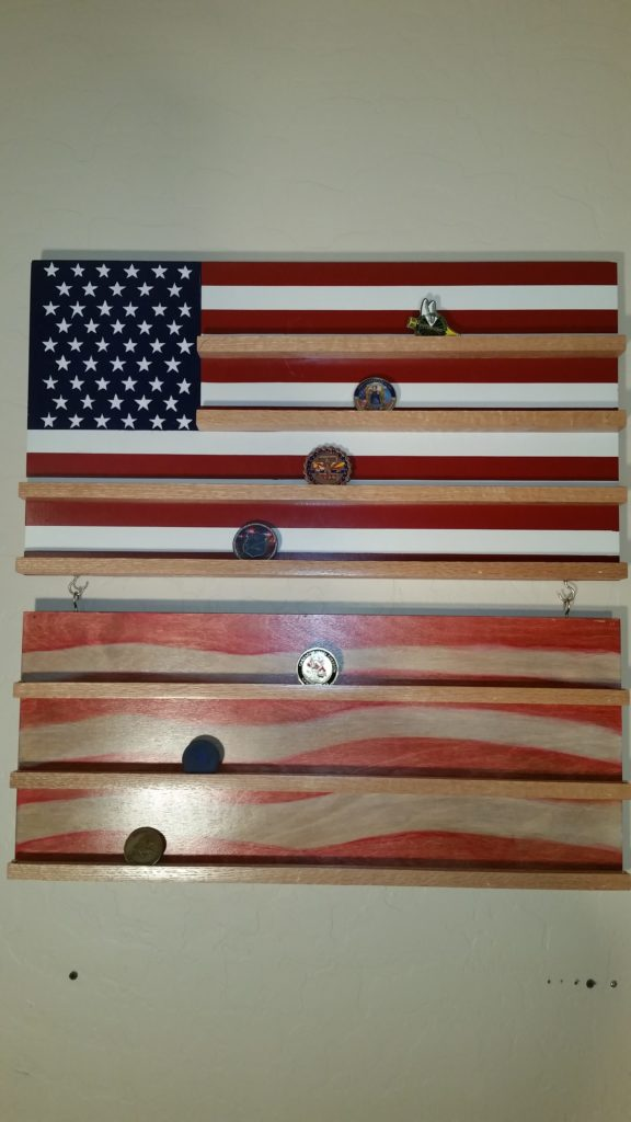 flag coin rack. stars and stripes, flag, coin rack, custom coin rack, hand crafted