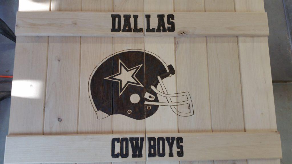saloon doors, dallas cowboys, football, man cave, custom wood burning,