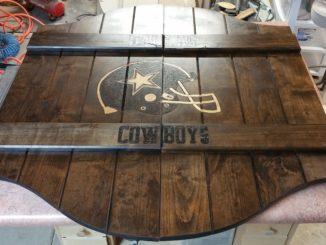 saloon doors, dallas cowboys, football, man cave, custom wood burning