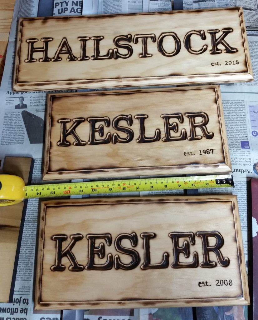 handcrafted name plaque, name plaque, custom woodburning, custom engraving, burned engraving, engraved name plaque