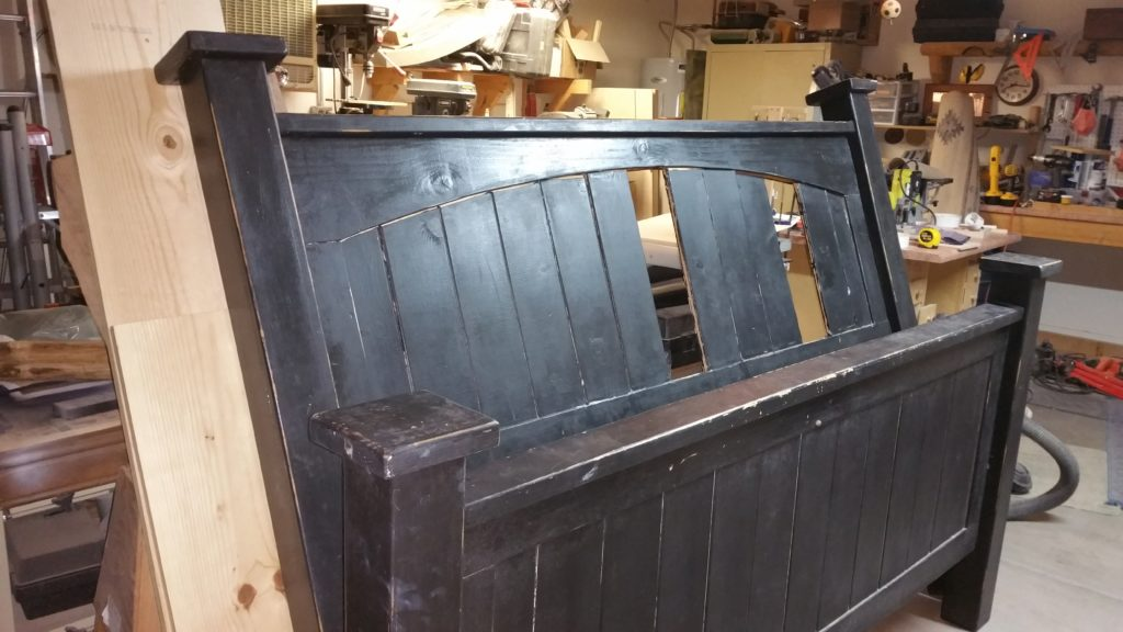 restore, restoration, restored furniture, distressed, distressed furniture, bed, bed frame