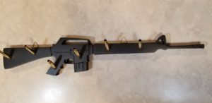 ar-15, AR-15, custom cutting, custom plaque, key rack, key holder, 223 cartidges, custom design, custom woodwork