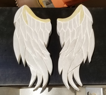 angel wings, carved angel wings, hand carved, hand painted, hand carved angel wings, hand crafted